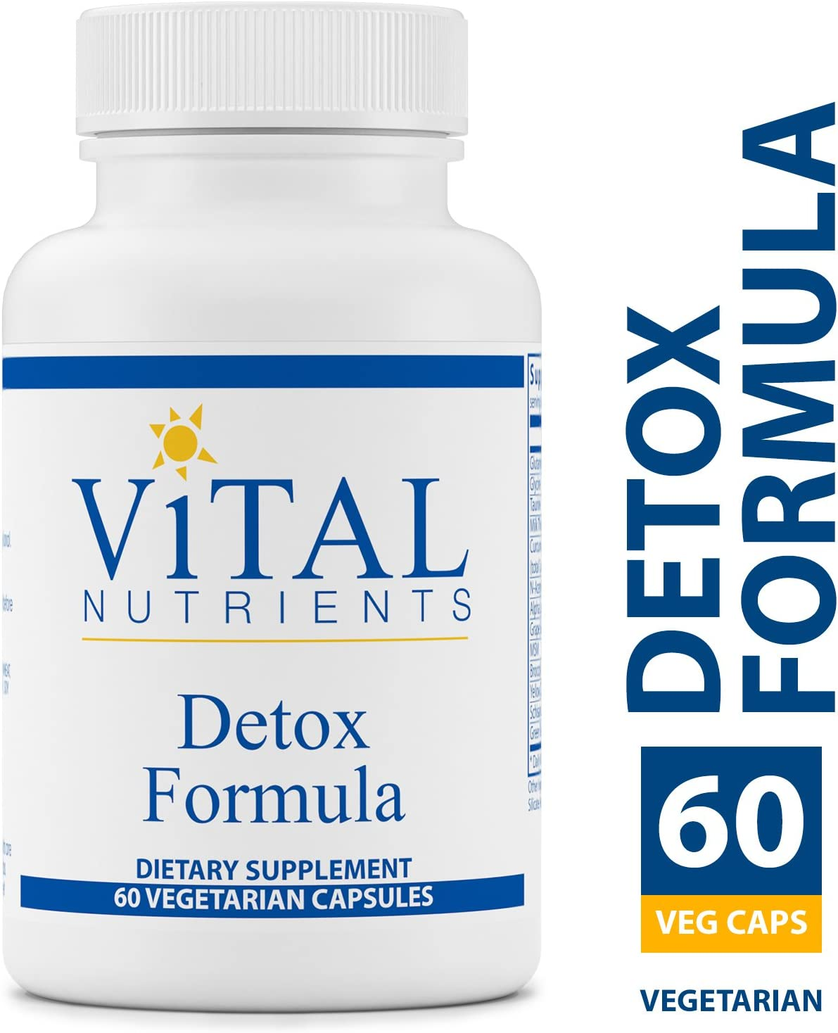 Vital Nutrients – Detox Formula – Specially Designed Formula for Liver and Detoxification Support – 60 Capsules per Bottle
