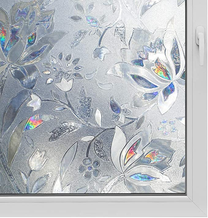 Details about  /3D Green Leaf ZHUA086 Window Film Print Sticker Cling Stained Glass UV