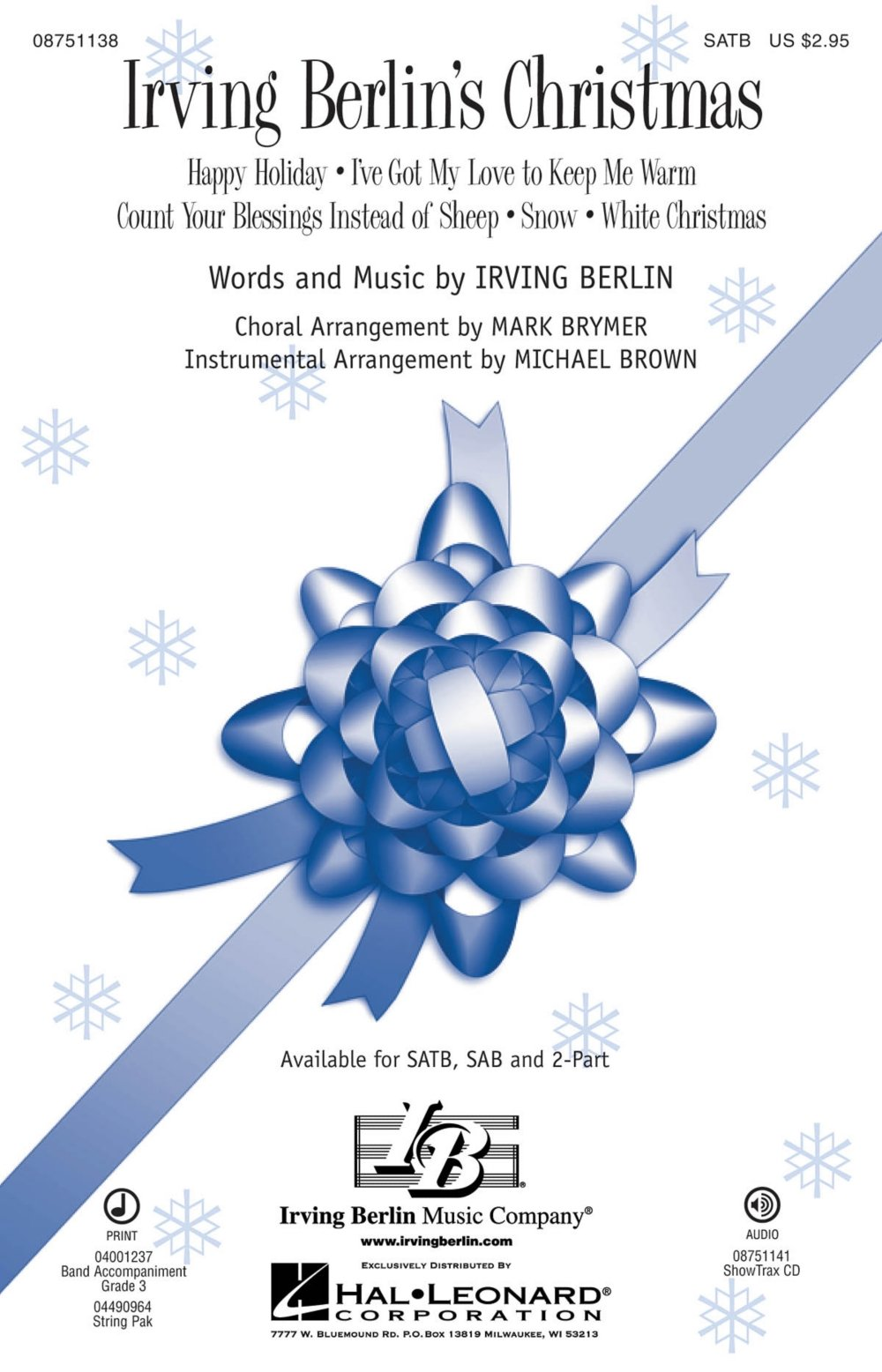 Hal Leonard Irving Berlin\'s Christmas (Medley) SATB arranged by Mark ...