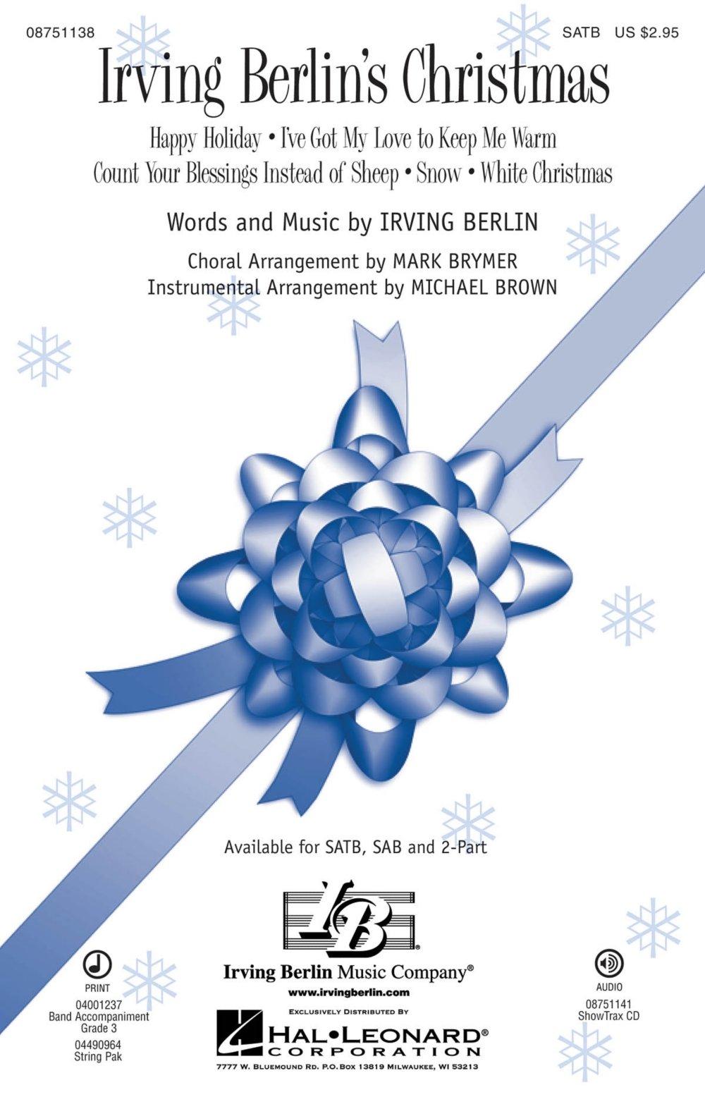 Hal Leonard Irving Berlin\'s Christmas (Medley) SATB arranged by Mark ...