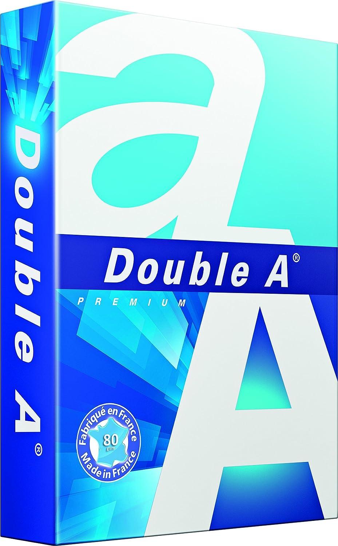 Double A Premium - Risma di 500 fogli formato A4, 80 g/mq, colore: bianco 3613630000042