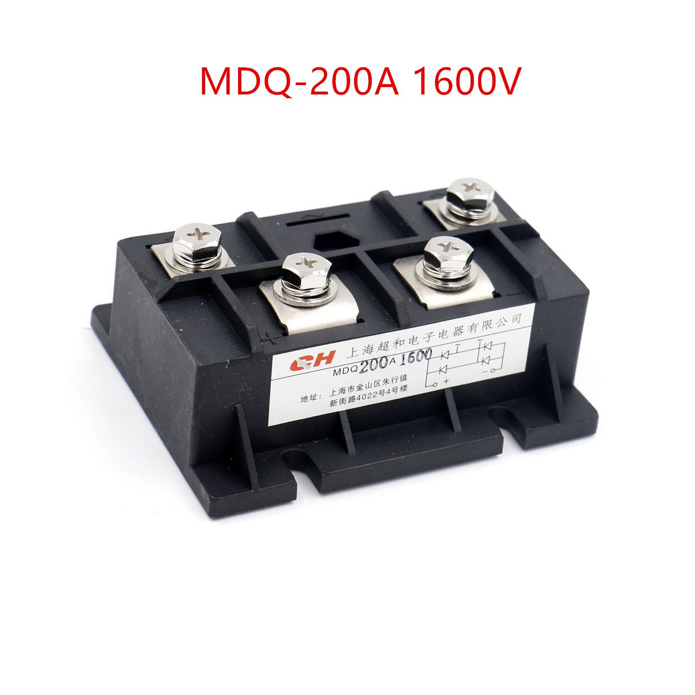 Nxtop Bridge Rectifier MDQ-200A 200A 1600V Full Wave Diode Module Single Phase