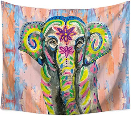 OTIAN Tapiz Sofa Indio Colgante De Pared Hippie Tapiz De Elefante Colorido Mandala para El Hogar Tapices Decorativos Bohemios Estera De Yoga 7 Colores