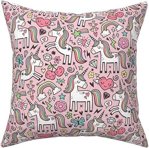 Rainbow Hearts Polycotton Fabric Valentines Childrens Cute
