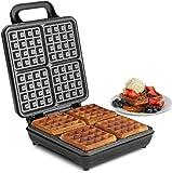 vonshef round waffle maker large 2 slice waffle iron. Black Bedroom Furniture Sets. Home Design Ideas