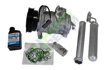 Partes Reino co-0182ak Reemplazo de a/c AC Compresor completo Kit: Amazon.es: Coche y moto