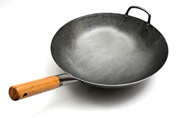 Chef's Medal Traditional Hand Hammered Carbon Steel Wok