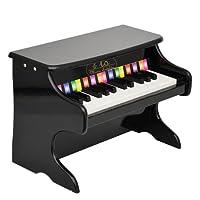 ts-ideen Kids Mini Piano with 25 Keys Wooden Black