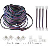 AREOUT 39.3ft/12M 4Pin RGB Cavo di Prolunga Linea Connettore Cavo per 5050 3528 RGB LED Striscia-Connettore Kit