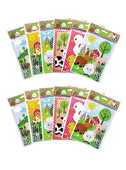 Amazon.com: Farm Animals - Cuadernos para colorear con ceras ...