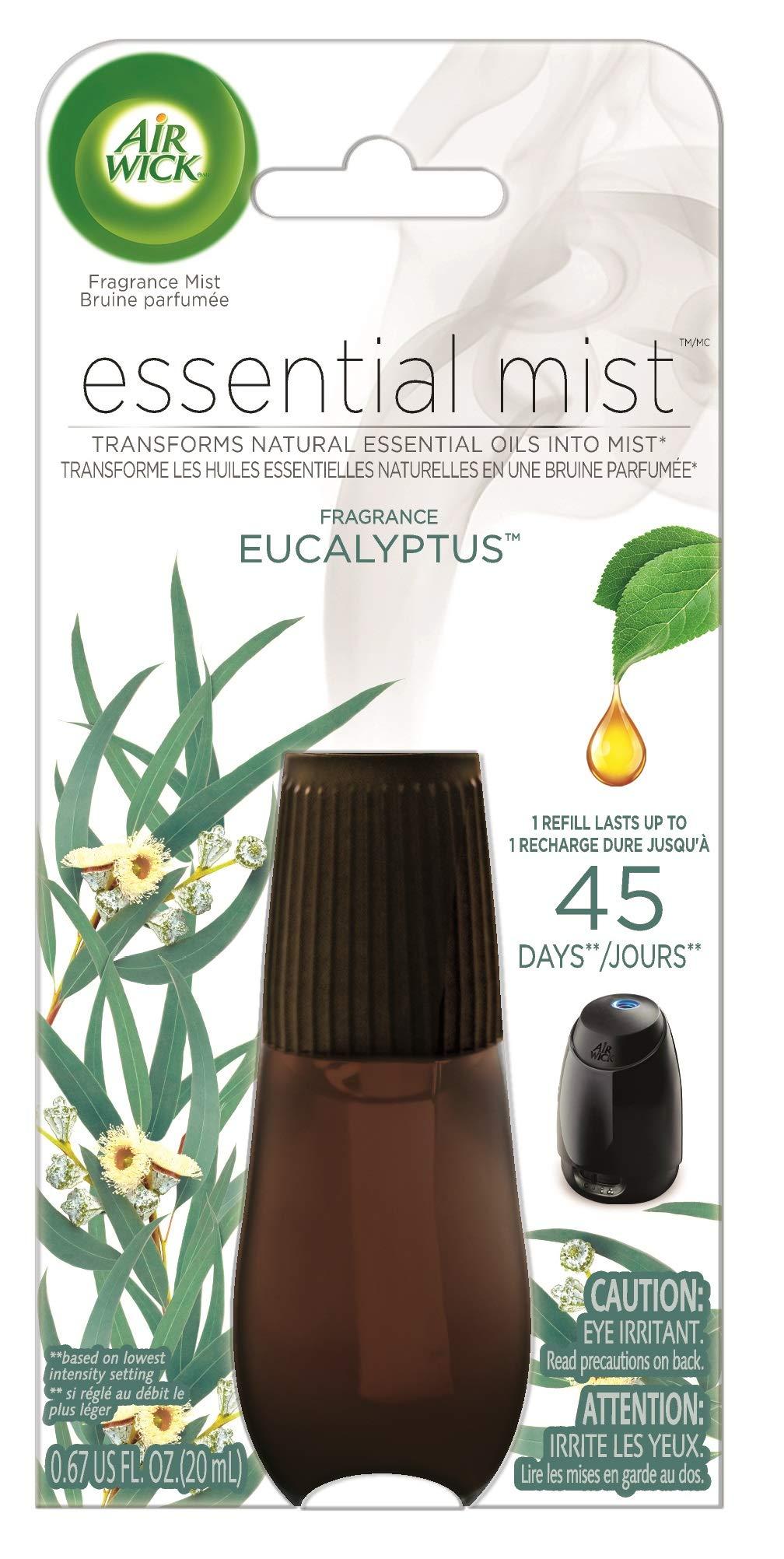 Air Wick Essential Mist, Essential Oil Diffuser Refill, Eucalyptus, 1ct, Air Freshener