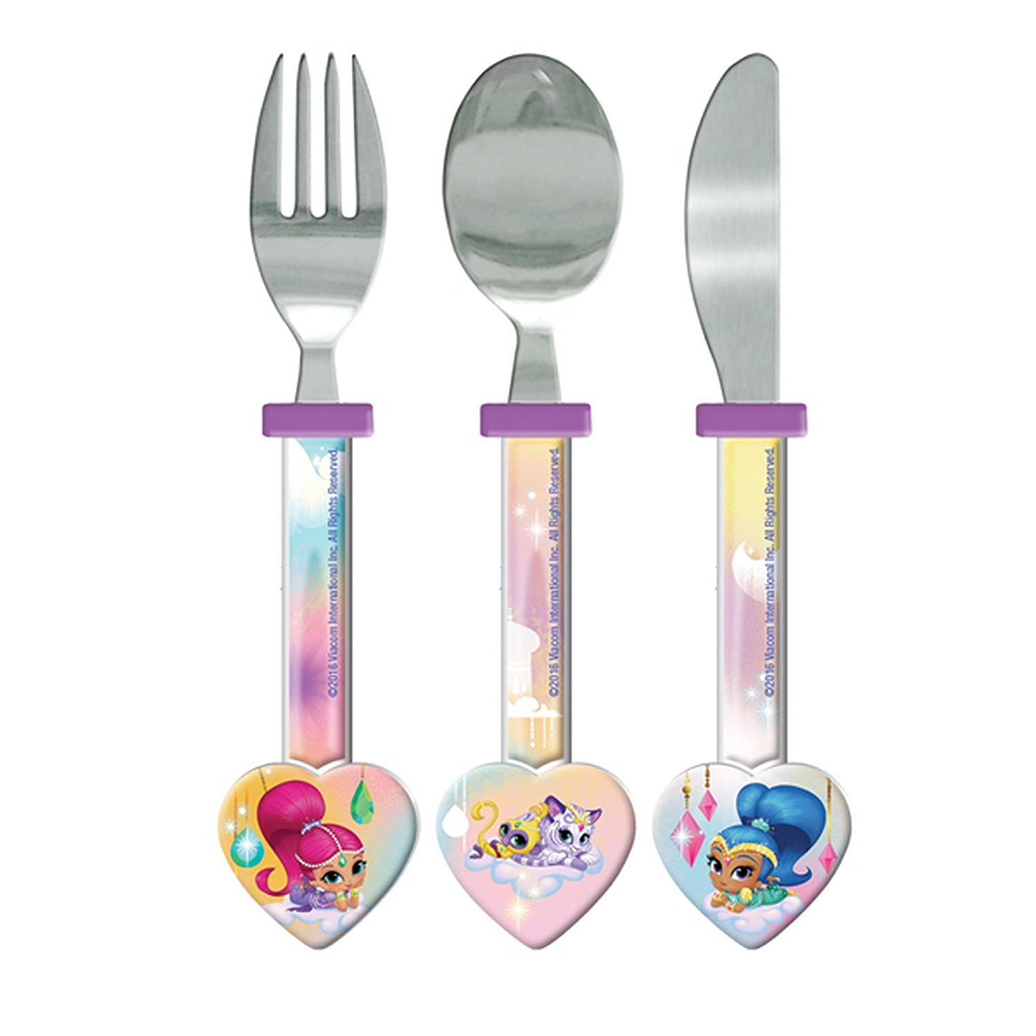 Shimmer And Shine Childrens/Girls Official 3 Piece Cutlery Set (One Size) (Purple) UTSG11444_1