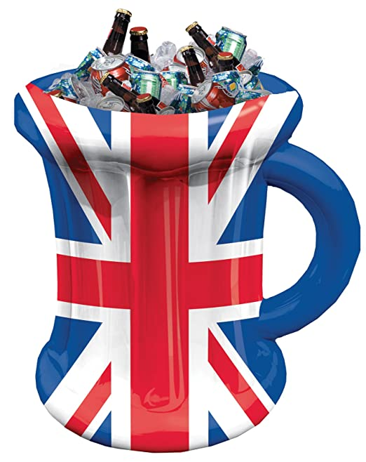 35 x 45 cm Red//White//Blue amscan 994902 Britain Inflatable Beer Mug 35cm w x 45cm h-1 Pc