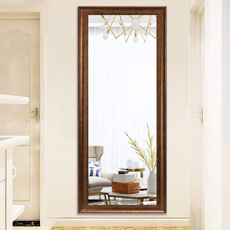 Bronze 65x22 PexFix Rectangular Full Length Mirror Bedroom Floor Mirror Standing or Hanging