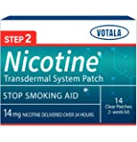 Votala Nature Nicotine Patches Step 2, 14milligram Nicotine Delivered 24 hours Transdermal System, Quit Smoking, Stop…