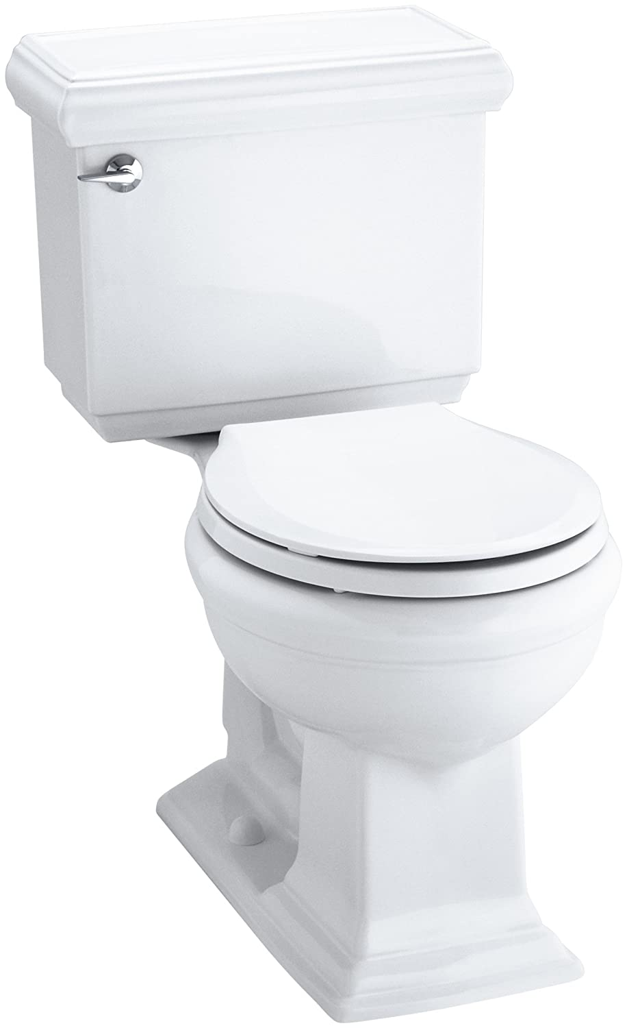 Kohler K-3986-0 Memoirs Comfort Height Two-Piece Round Front Toilet with Classic Design, White well-wreapped