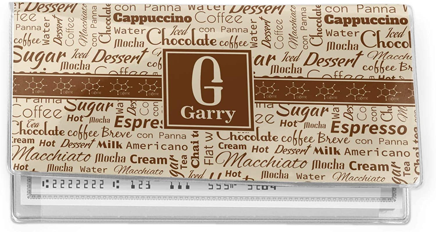 Coffee Lover Vinyl Checkbook Cover (Personalized)