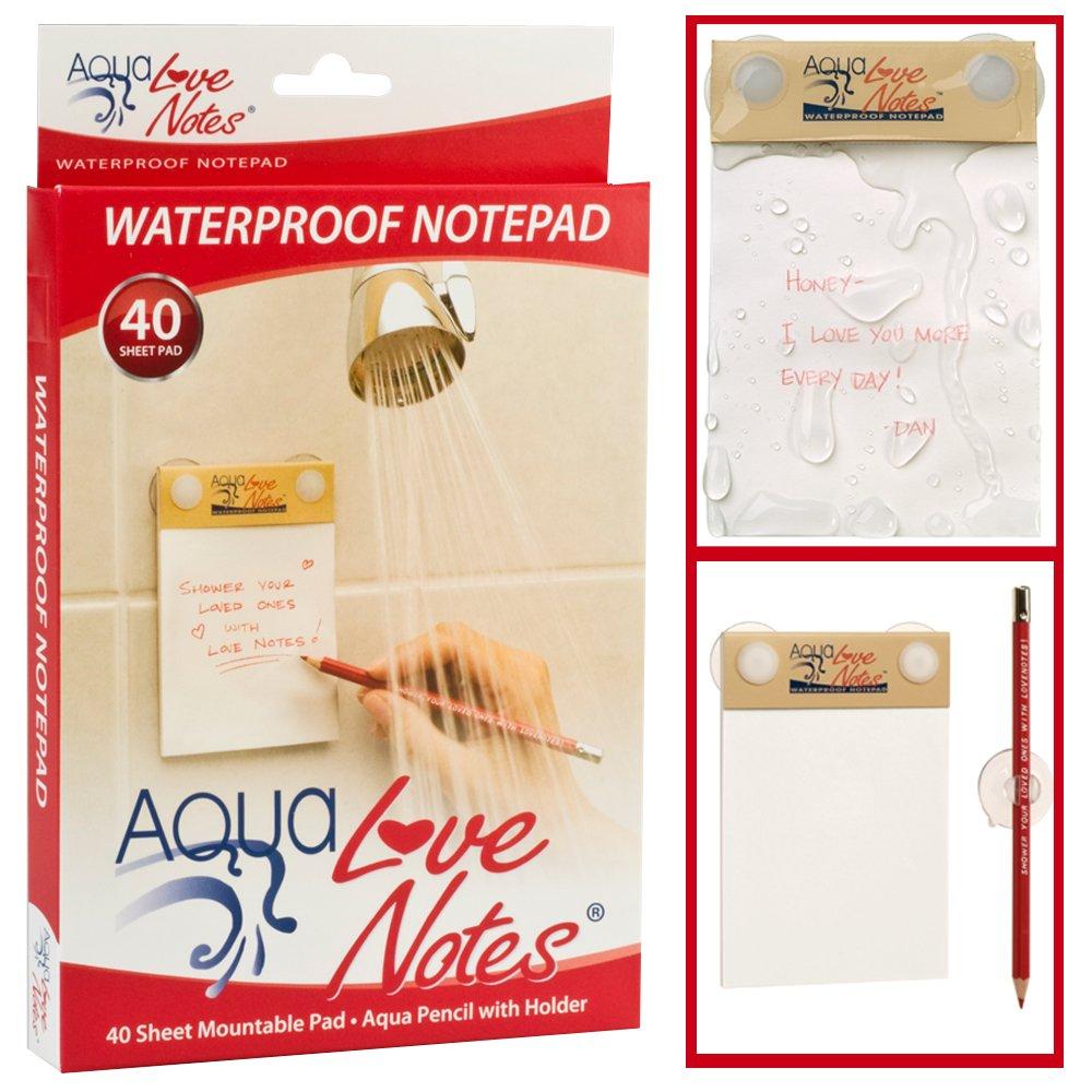 free shipping Aqua Love Notes Waterproof Libreta para Notas