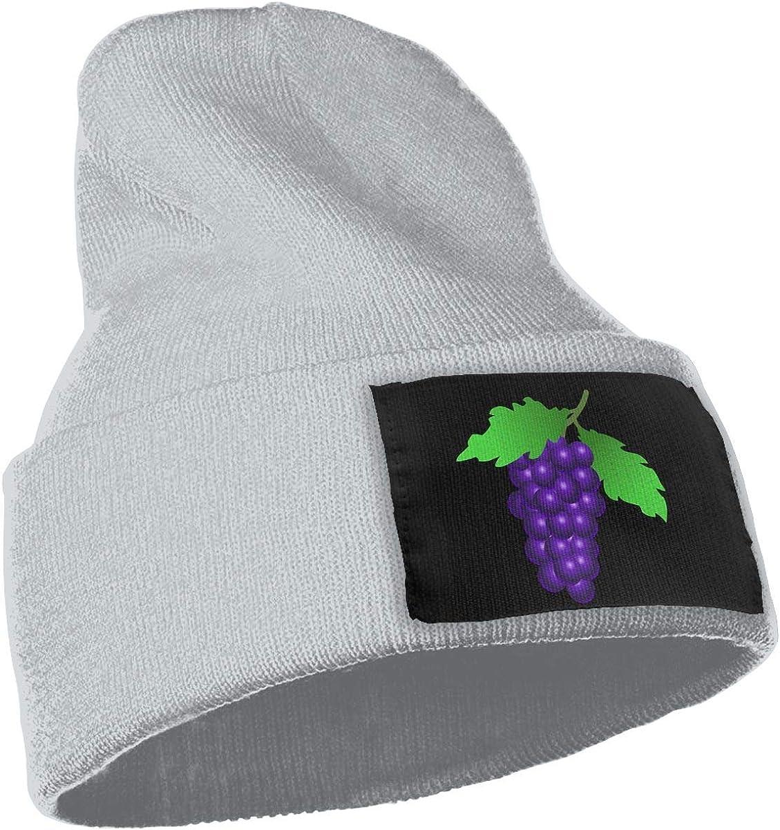 The Grapes Fashion Ski Cap WHOO93@Y Unisex 100/% Acrylic Knitting Hat Cap