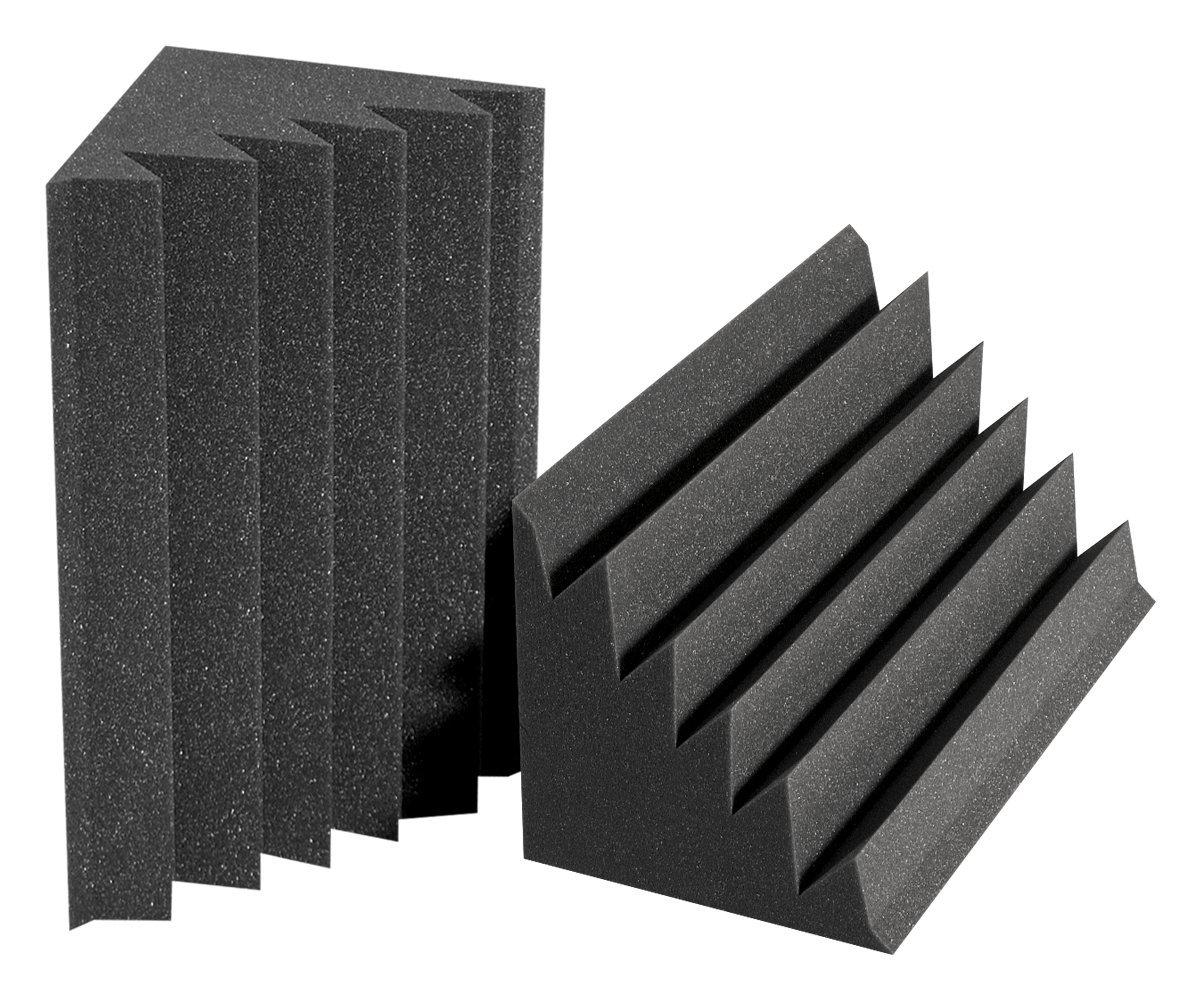 Auralex Acoustics 12'' x 12'' x 24'' DST LENRD Sound Control - Studiofoam Bass Traps, Charcoal - 2 Pack