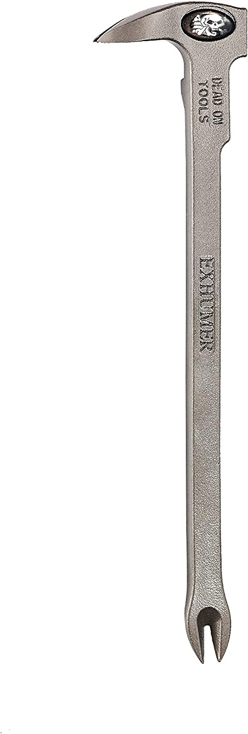 Dead On Tools EX9CL 10-5/8-Inch Exhumer Nail Puller, Silver