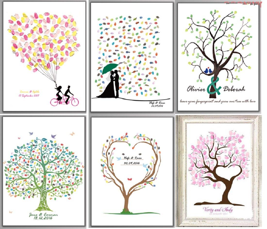 Eccezionale Libro ospiti per matrimonio fai-da-te, unico, albero di impronte  ZD79
