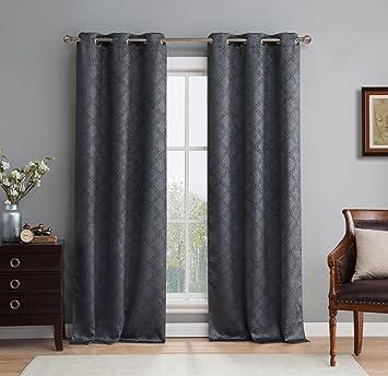 ME Lattice Thermal Room Darkening Energy Efficient Blackout Curtains For  Bedroom   Set Of