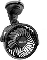 OPOLAR Mini Car & Desk Fan with Strong Suction Cup, High Airflow, Four Speeds, Powered Only by USB, Ideal for Sedan SUV RV Boat Auto Vehicles, Firmly Attached to Dashboard & Windshield, NO Battery