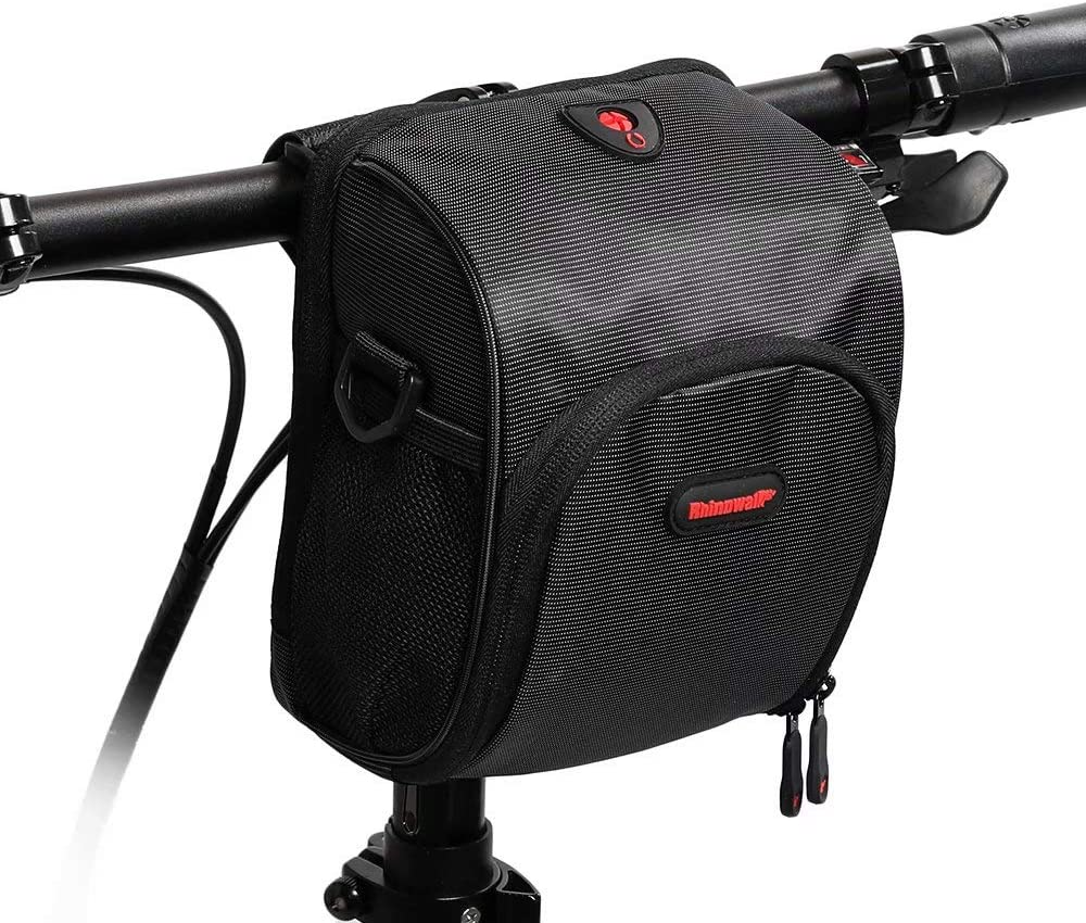 Rhinowalk Bike Handlebar Bag Bicycle Front Bag E-Scooter Basket Bag for Cycling Commuting with Shoulder Strap Rain Cover