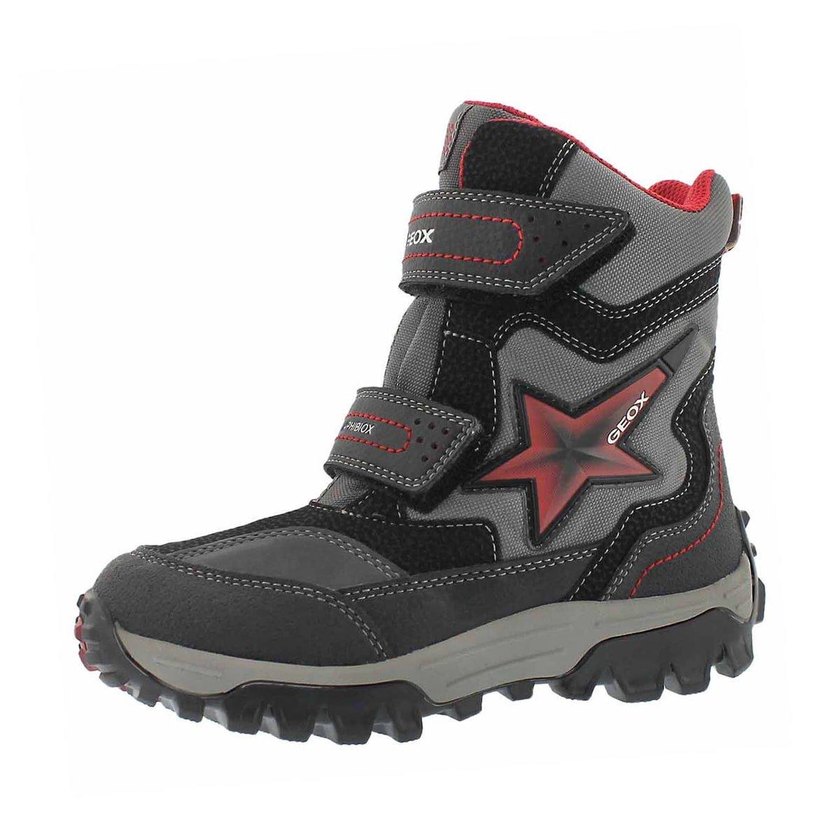 Geox Boy's Himalaya ABX B Winter Boot Blk/Red 30 M EU by Geox