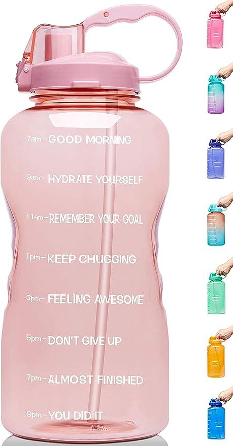 Venture Pal 1 Gallon 128 oz Motivational BPA Free Leakproof Jug Water Bottle