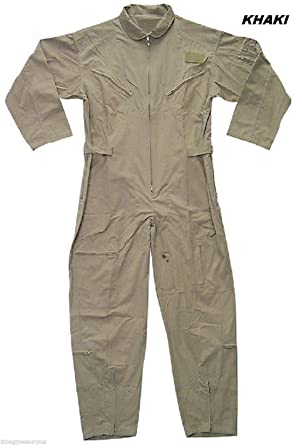 Amazon.com  Khaki Military Style Flight Suit Air Force Style Fighter Flight  Coveralls  Clothing c9cb50188fb
