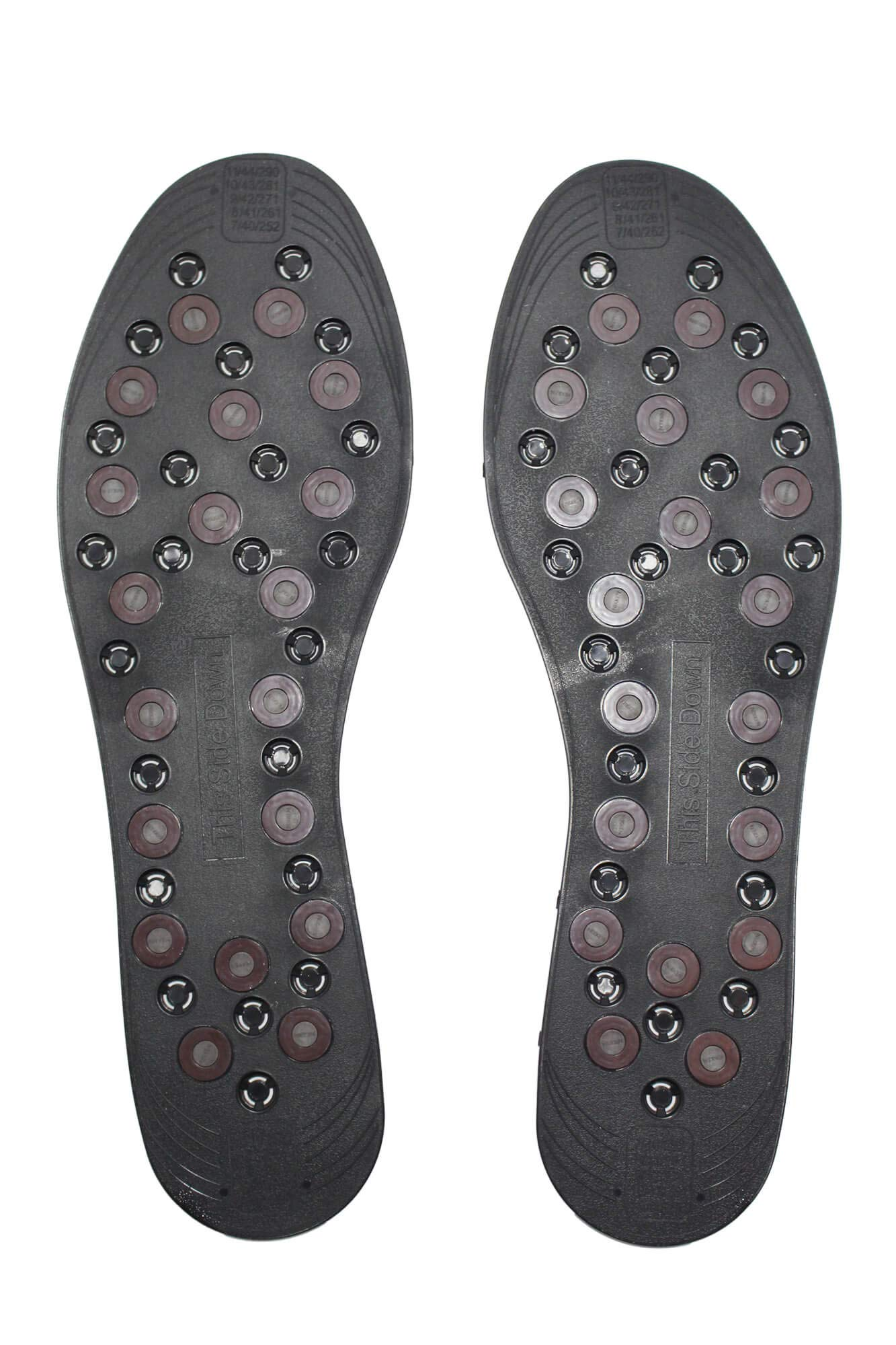 Nikken 1 mStrides Insoles, 20211, Men Shoe Sizes 7 to 12, Pair, Cut to Fit, Magnetic Therapy, Improve Blood Circulation, Kenko by NIKKEN