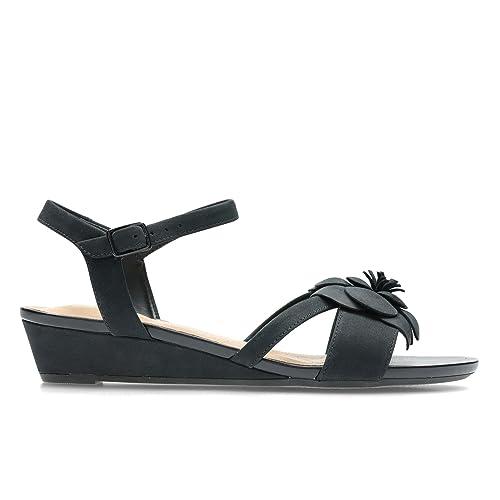 berühmte Designermarke Herbst Schuhe ausgewähltes Material Clarks Damen Parram Stella Knöchelriemchen