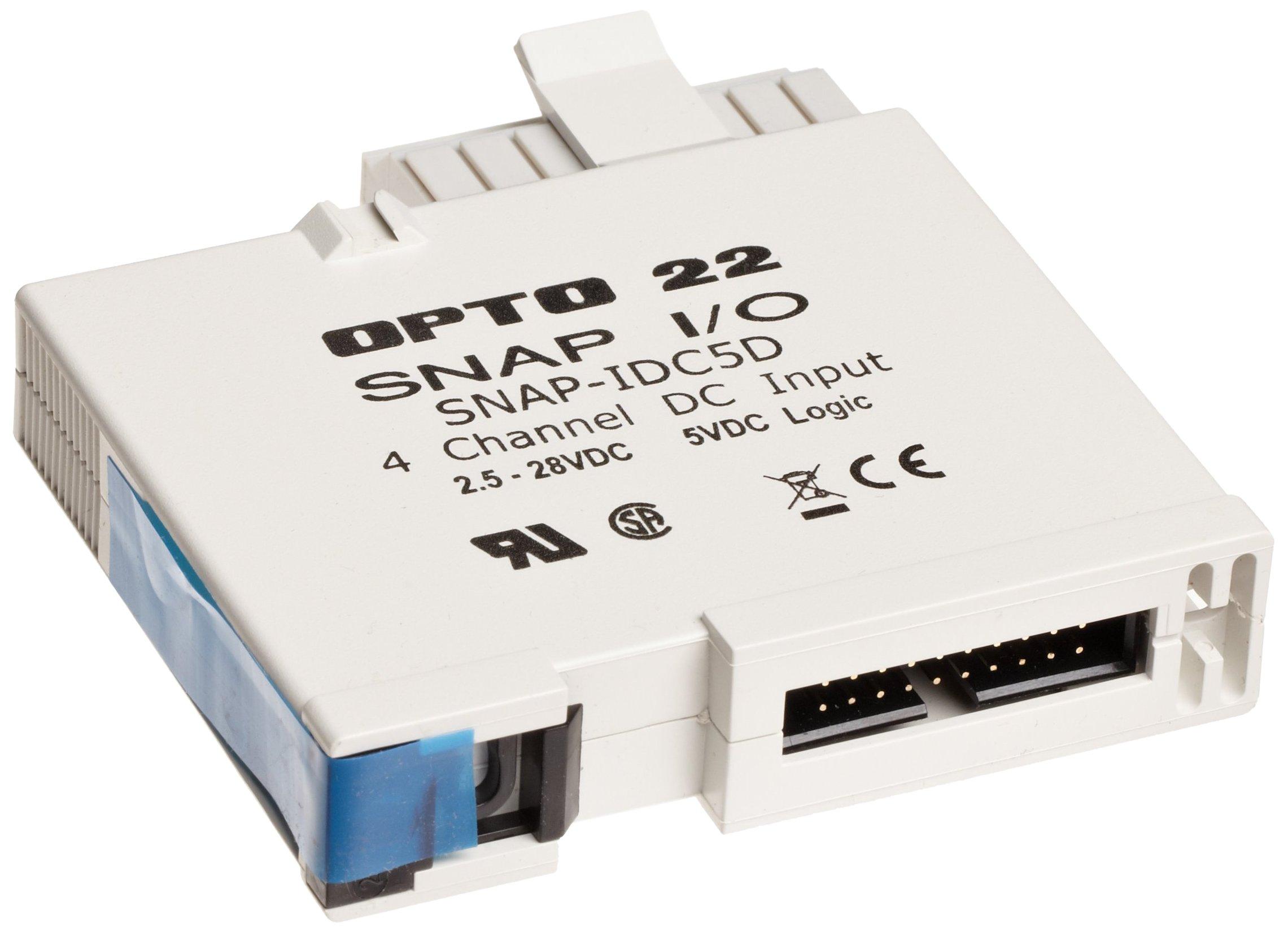 Opto 22 SNAP-IDC5D - SNAP Digital (Discrete) Input Module, 4-Channel, 2.5-28 VDC/VAC