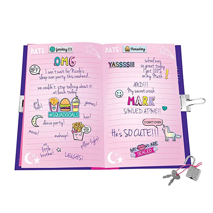 5013116452a Amazon.com  Just My Style Light Up Diary by Horizon Group USA  Toys   Games