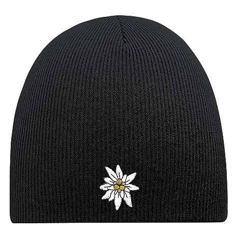 Fan-O-Menal Berretto con Ricamo – Edelweiss – Cappello di Lana Inverno  Berretto 87cfb672b883