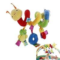 NUOLUX Bébé Jouet Spirale Lit Poussette Hochet Jouets en Peluche avec sonnerie Hanging Jouets Cadeaux