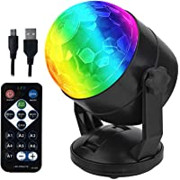 Remote Control Portable Sound Activated Party Lights for Outdoor and Indoor, Battery Powered or USB Plug in, Dj Lighting…