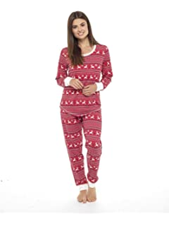 677c2c4b50 Autumn Faith Ladies Rudolf Reindeer Fleece Pyjama Set PJS Top ...