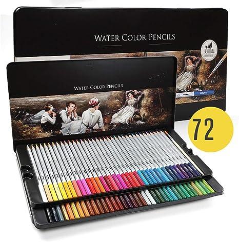 BESTNIFY 72 Lápices de Colores con Caja de Metal - 72 Colores Únicos Estuche de Lapices de Colores Profesional Adultos Niños: Amazon.es: Deportes y aire libre