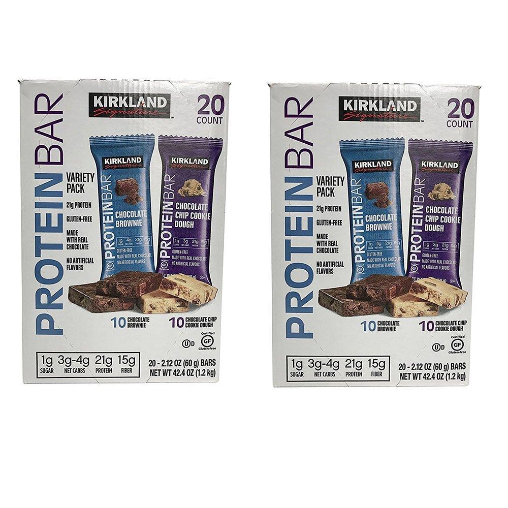 Kirkland Signature Protein bar energy variety pack qskJXW, 2Pack (20 Count) by Kirkland Signature