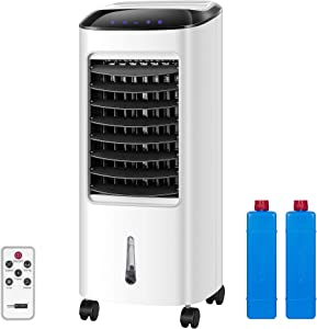 VIVOHOME Portable Evaporative Air Cooler 110V 65W Fan Humidifier with LED Display and Remote Control Ice Box for Indoor Home Office Dorms ETL Listed
