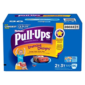2T-3T 18-34 lb. 42 Count Pull-Ups Learning Designs Training Pants for Girls