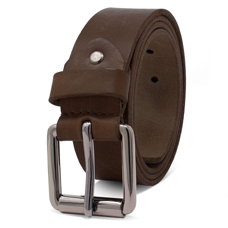 Mens Genuine Leather Belts Metal Strap Buckle Fastening Stylish Jeans Outwear