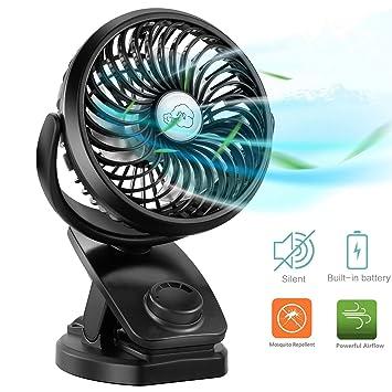 Amazon.com: COMLIFE - Ventilador de cochecito con batería y ...
