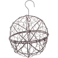 BAOBLADE Rustic Iron Wire Wreath Frame Succulent Pot Iron Hanging Planter Plant Holder (Plants Are Not Included)