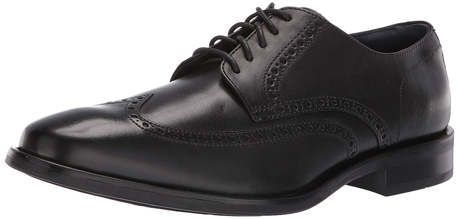 Black Cole Haan Mens Watson Dress Wingtip Oxford Oxford