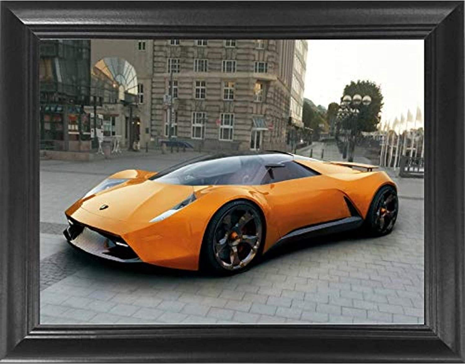 Amazon Com Lamborghini Exotic Sports Car 3d Poster Wall Art Decor Framed Print 18 5x14 5 Lenticular Posters Pictures Memorabilia Gifts For Guys Girls Bedroom Cool Car Picture For