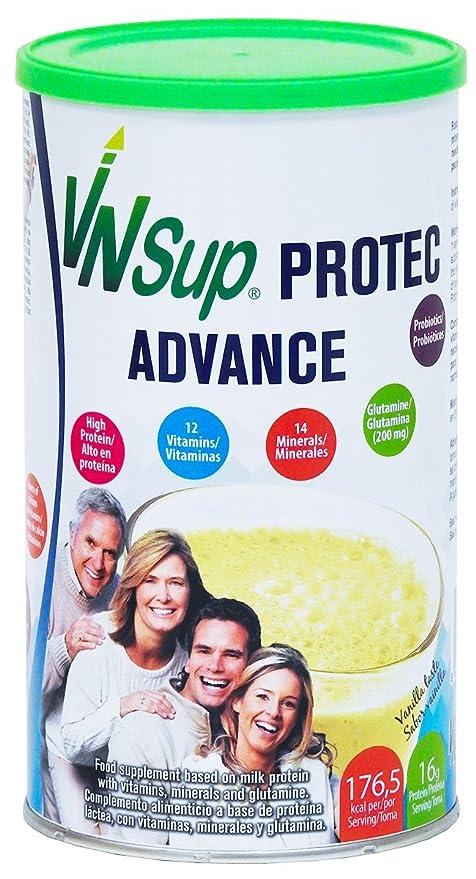 Protec Advance vainilla. Batido a base de proteínas lácteas con vitaminas, minerales, probioticos, glutamina y aceite MCT. VNSup: Amazon.es: Salud y cuidado ...